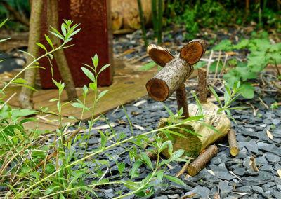 Jardin Zen - Animal de bois